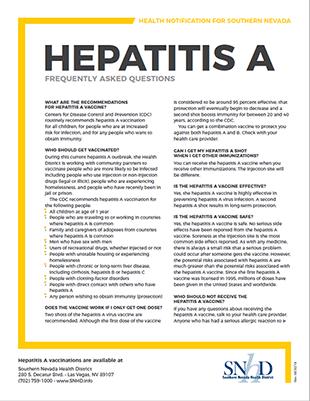 Hepatitis A - F.A.Q.