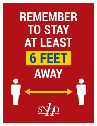 Remember to Stay at Least 6 Feet Away