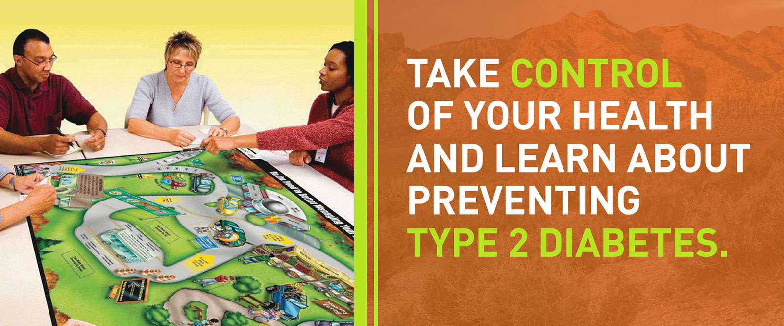 Take control of your health and learn to prevent type 2 diabetes