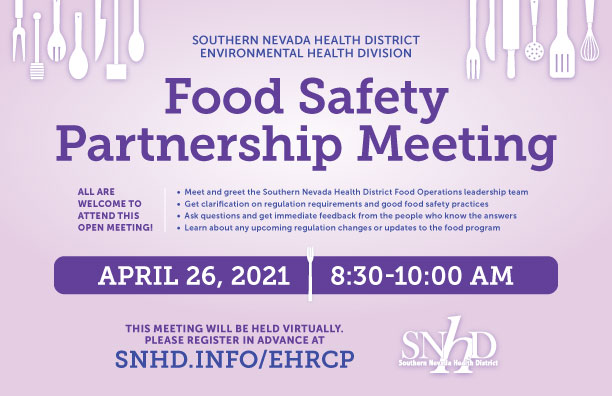 Virtual Food Safety Partnership Meeting - April 26, 2020