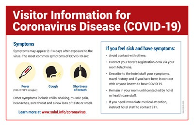 Visitor Information for Coronavirus Disease (COVID-19)