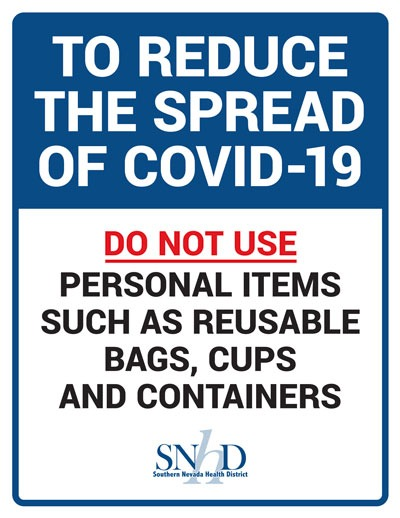 Do Not Use Personal Containers