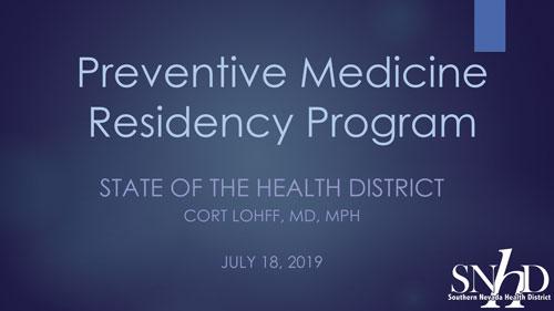 Preventive Medicine Residency Program