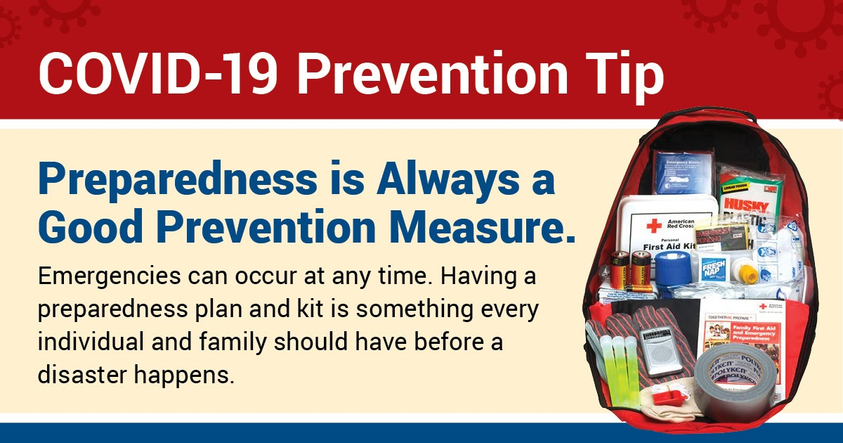 SNHD COVID-19 Prevention Tips — Preparedness is always a good prevention measure